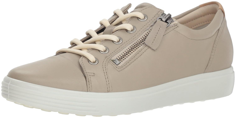 ECCO Women's Soft Sneaker B07753X24H 37 M EU (6-6.5 US)|Oyester Side Zip
