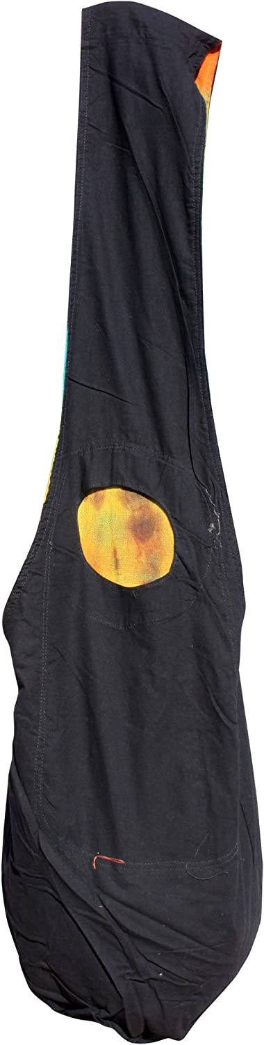 X-Large Full Funk Brand Reversible Yaam Cotton Shoulder Bag Tie Dye and Plain Cotton Green Pink