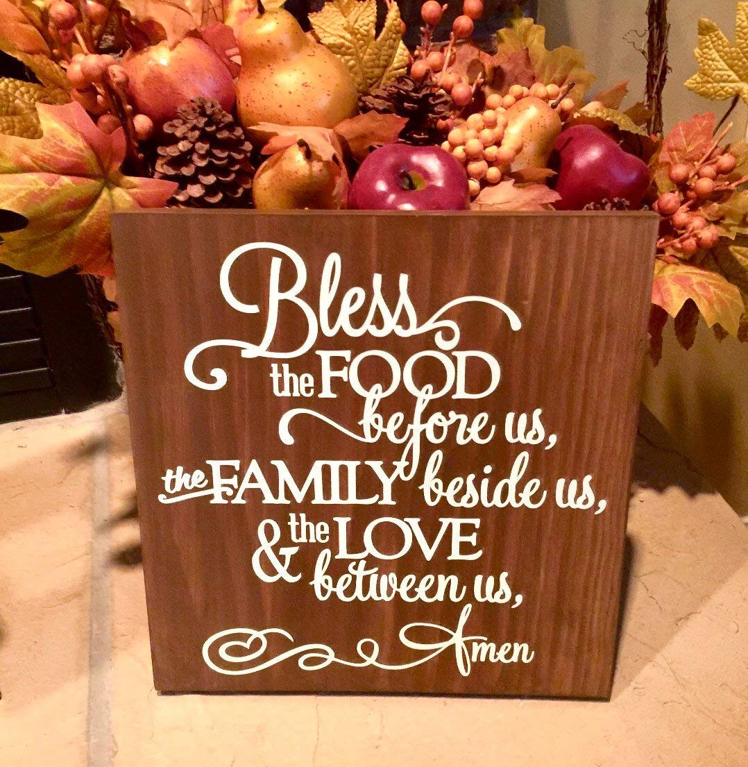 Olga212Patrick Bless The Food Before Us Wood Plaque Sign Dining Room Decor Kitchen Wood Plaque Sign Childrens Prayer Prayer Before Meals Kitchen Decor Prayer Wood Plaque Sign