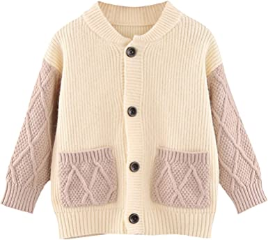 Girls Cardigan Autumn Sweater Long Sleeve Winter Knitted Jumper Age 2-7 years