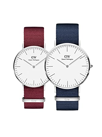 72addc3b4abd Buy Daniel Wellington Classic Roselyn and Bayswater Analogue Rose Gold  Plated Dial Couple Watch Combo Online at Low Prices in India - Amazon.in