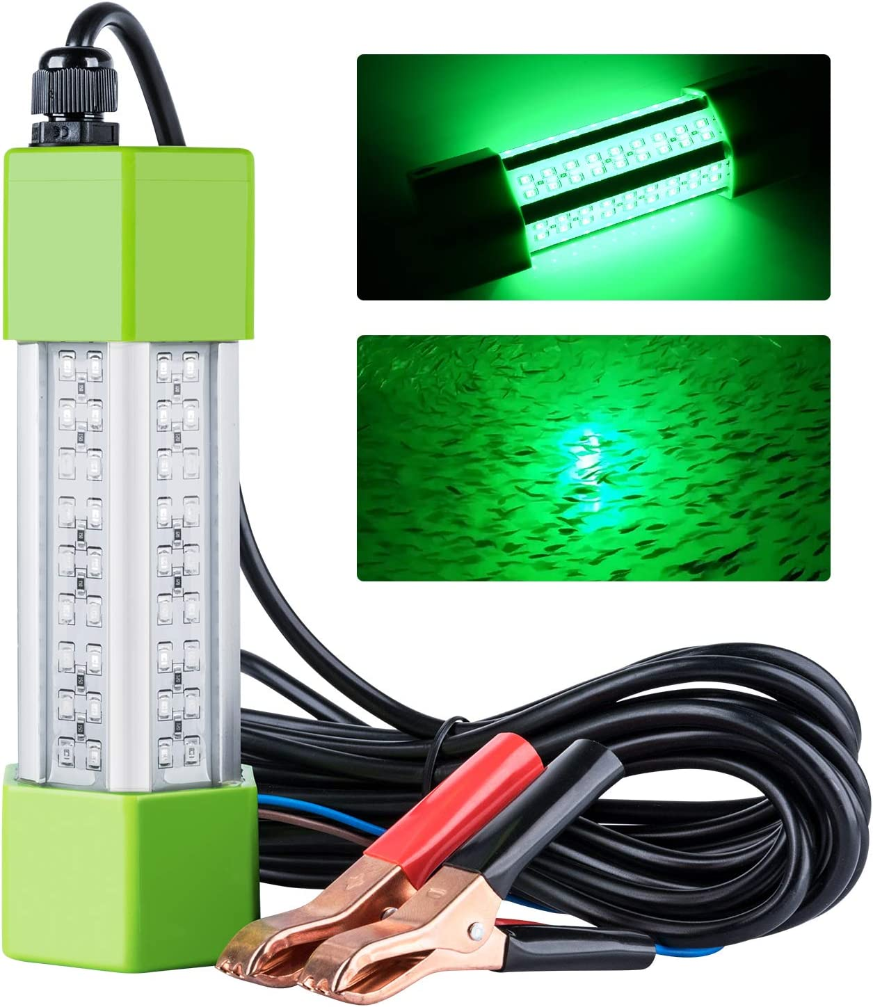 12 LED Fish Finding Trap Lamp Underwater Fishing Attracts Lure Bait Lights