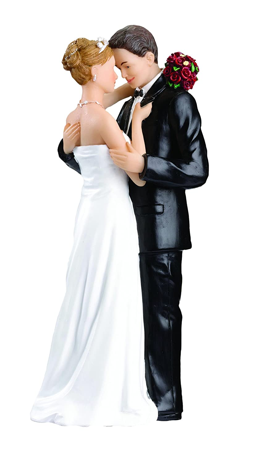 Amazon Lillian Rose Caucasian Bride And Groom Wedding Cake Topper Home Kitchen