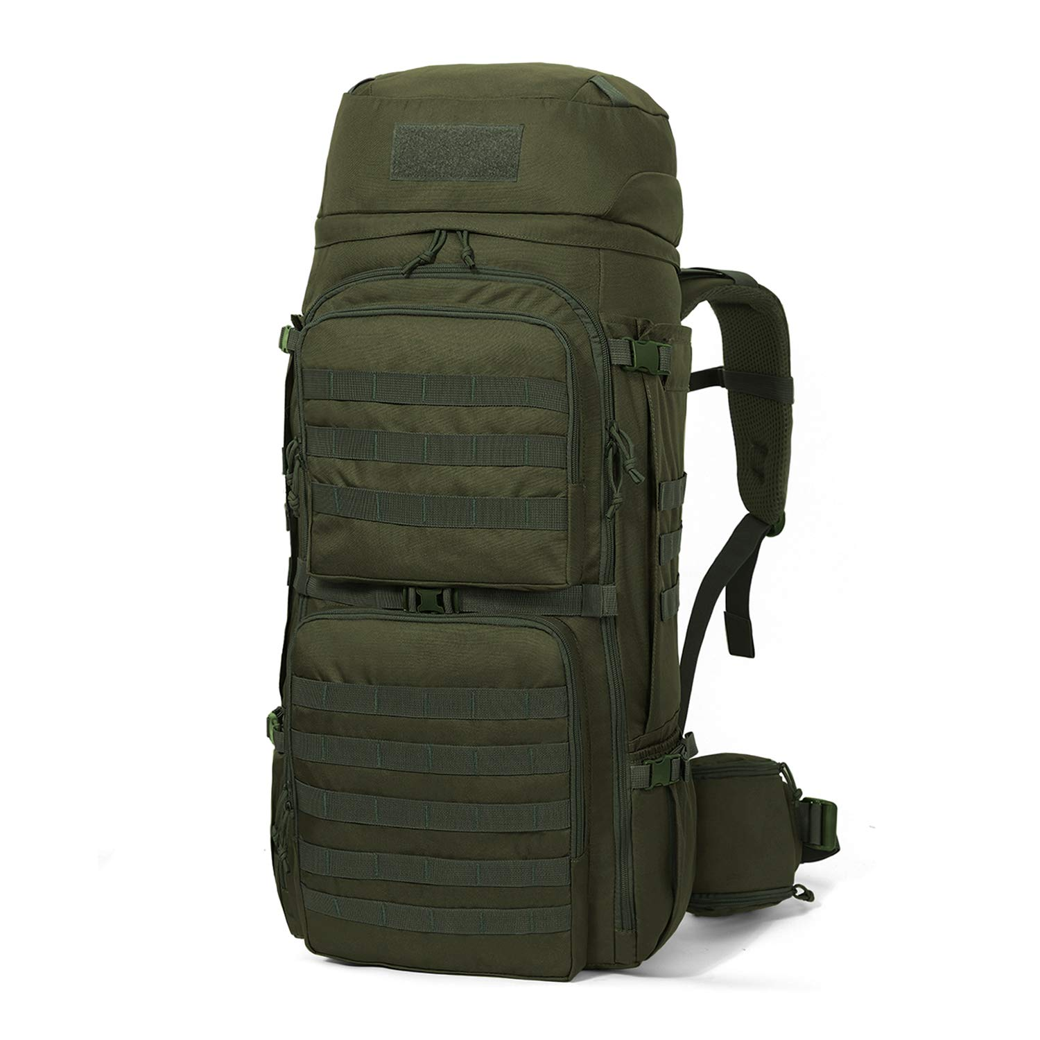 Mardingtop 75L Molle Hiking Internal Frame Backpacks with Rain Cover (M6312-Army Green-75L) by Mardingtop