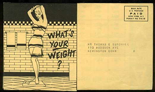 Aaxico Airlines Whats Your Weight Airline Cargo Info Mailer 1950s