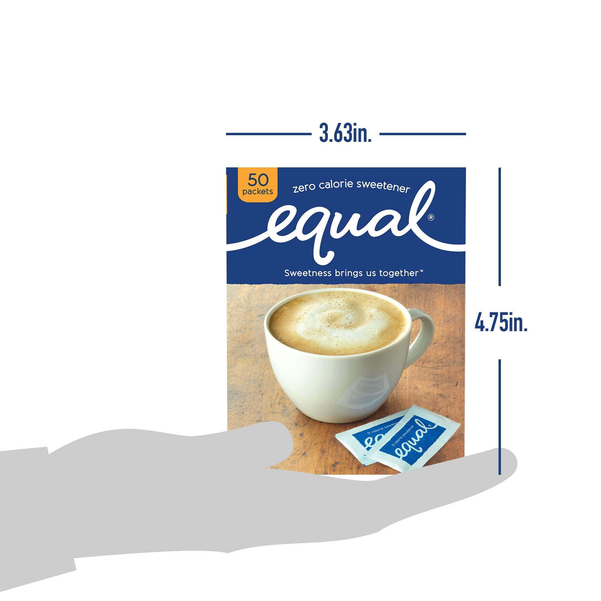 EQUAL 0 Calorie Sweetener, Sugar Substitute, Zero Calorie Sugar Alternative Sweetener Packets, Sugar Alternative, 50 Count (Pack of 12) by Equal (Image #8)
