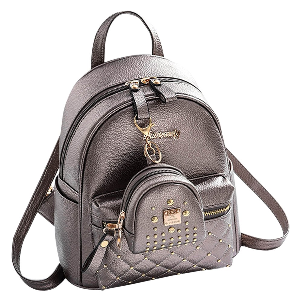 BAOFASHION Women's PU Leather Retro Purses Small Bag Pendant Backpack