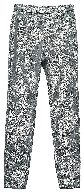 HUE Womens Distressed Metallic Leggings U18685H-026