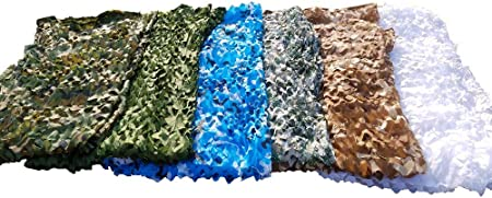 Camouflage Leaves Camo Netting Camping Military Hunting Shade Cover Woodland