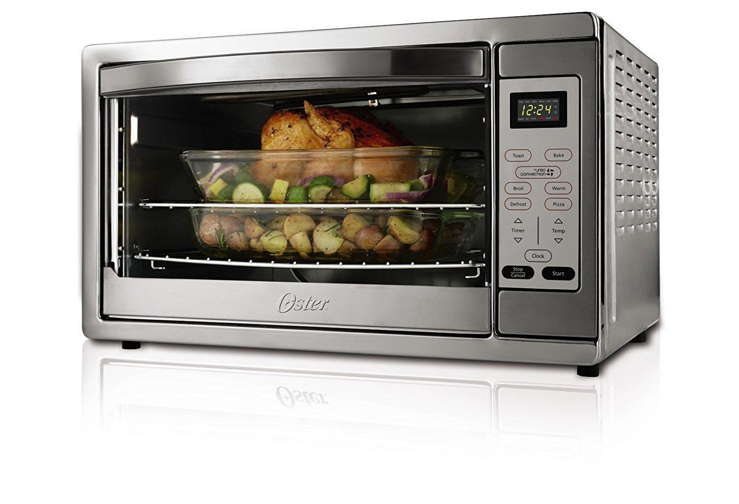 2 x Oster Extra Large Digital Countertop Oven, Stainless Steel, TSSTTVDGXL-SHP