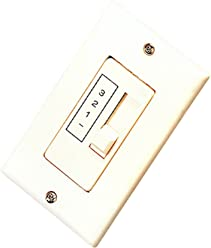 Royal Pacific WC-4 Ceiling Fan Wall Control, Single Slide, Three Fan Speed
