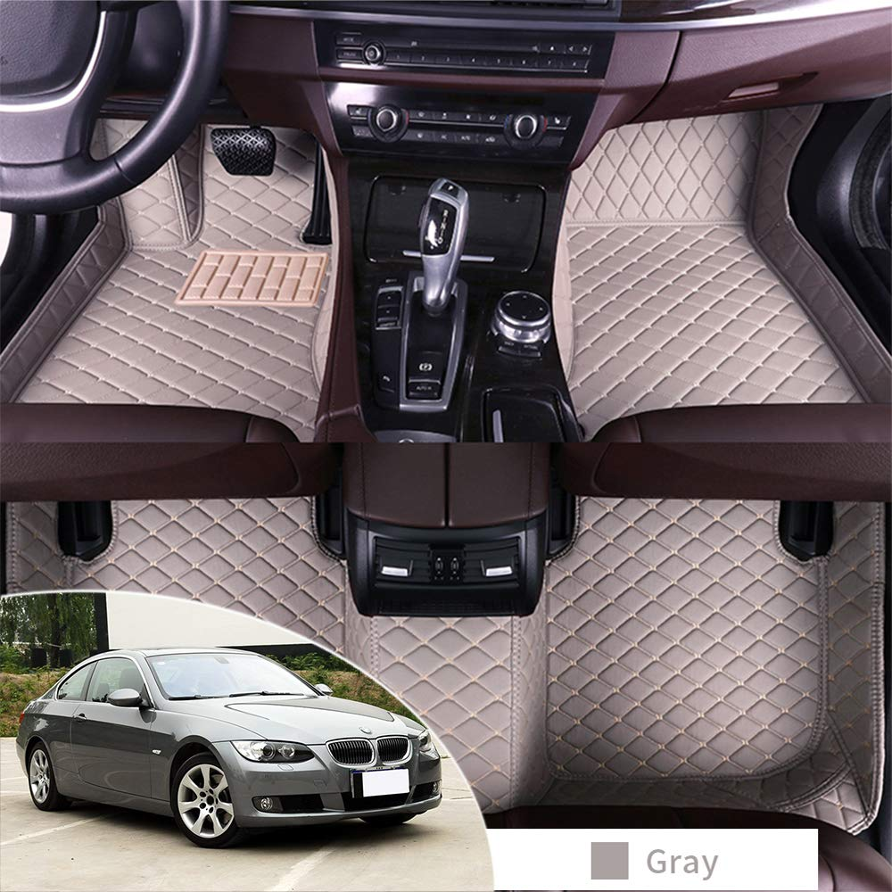 All Weather Floor Mat for BMW 320i 325i 330i 335i E92 2008-2011 Coupe 3D Full Protection Car Accessories Black /& Beige 3 Piece Set