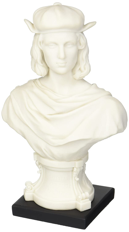 Design Toscano WU75536 Busto Maestro del Rinascimento Italiano: Leonardo, Bianco, 9x15x24 cm WU75536-Parent