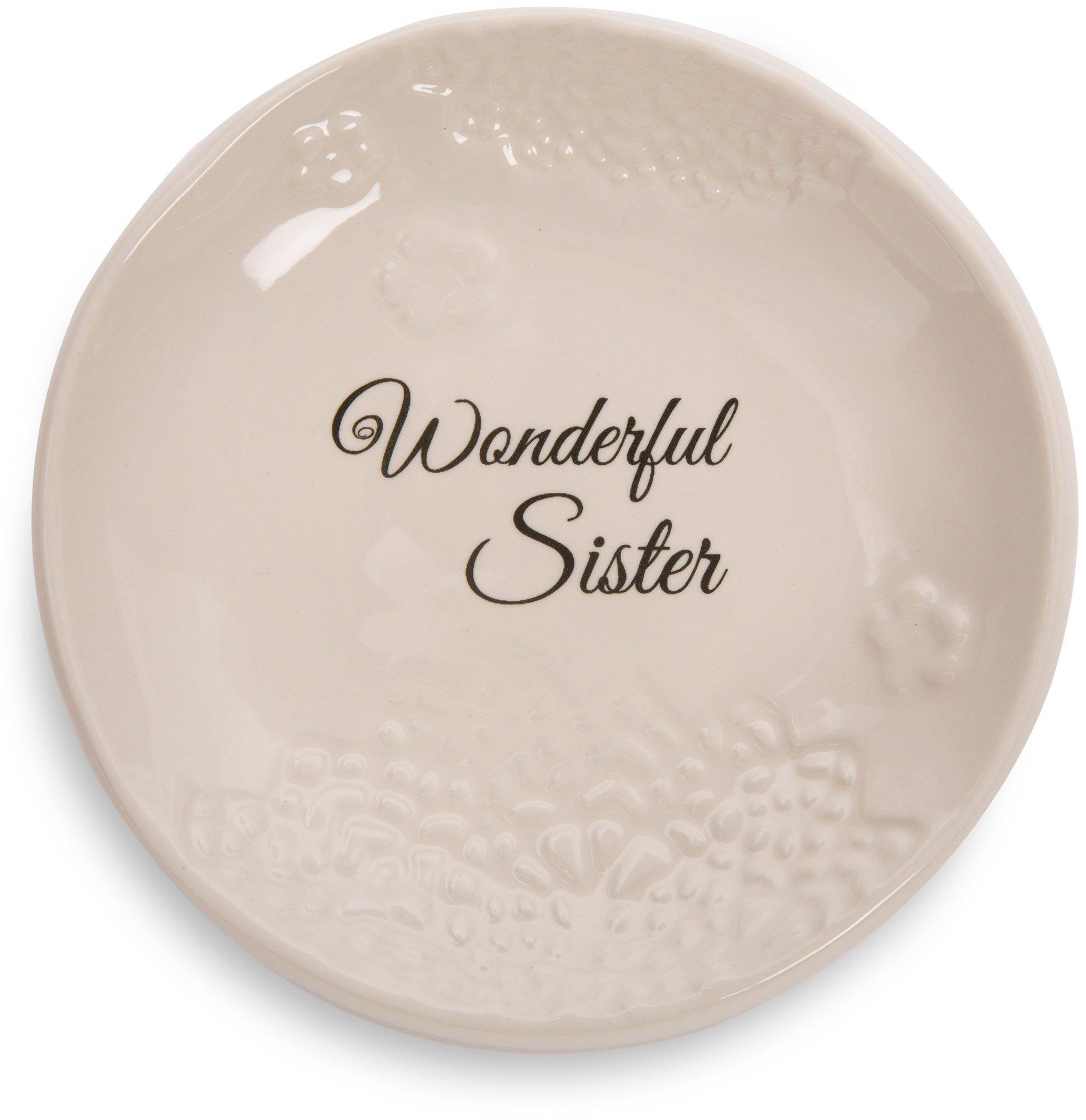 Pavilion Gift Company 19123 Light Your Way Everyday Wonderful Sister Decorative Ceramic Plate, 5''