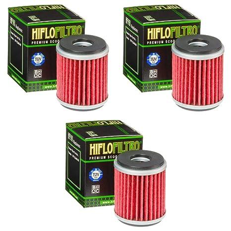3x Filtro de aceite Yamaha YP 125 R X-Max 06-14 Hiflo HF981