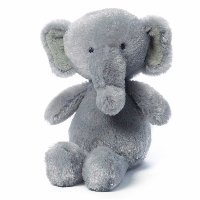 Amazon Com Gund Gradie Elephant Baby Rattle Stuffed Animal