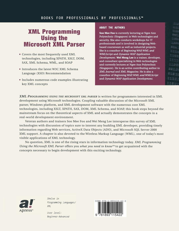 XML Programming Using the Microsoft XML Parser: Amazon in: Wei-Meng