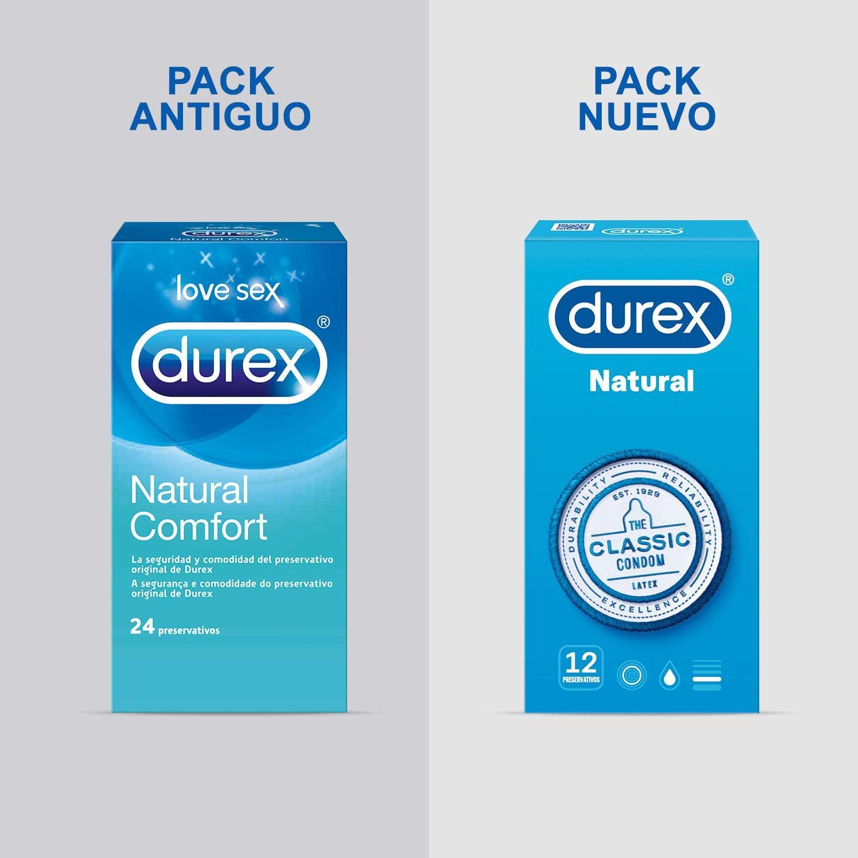 Durex Preservativos Originales Naturales Natural Comfort - Total 12 Condones: Amazon.es: Salud y cuidado personal