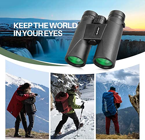 Binoculars Compact for Adults Bird Watching Clearly – 12X42 High Definition Traveler Large-View – Novel Modeling and Lightweight – Binocular Great for Outdoor Sports Games and Concerts