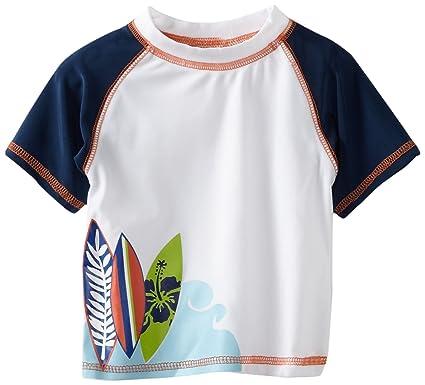 643794e197 Amazon.com: Rugged Bear Baby Boys' Surf Fun Rash Guard, White, 18 ...