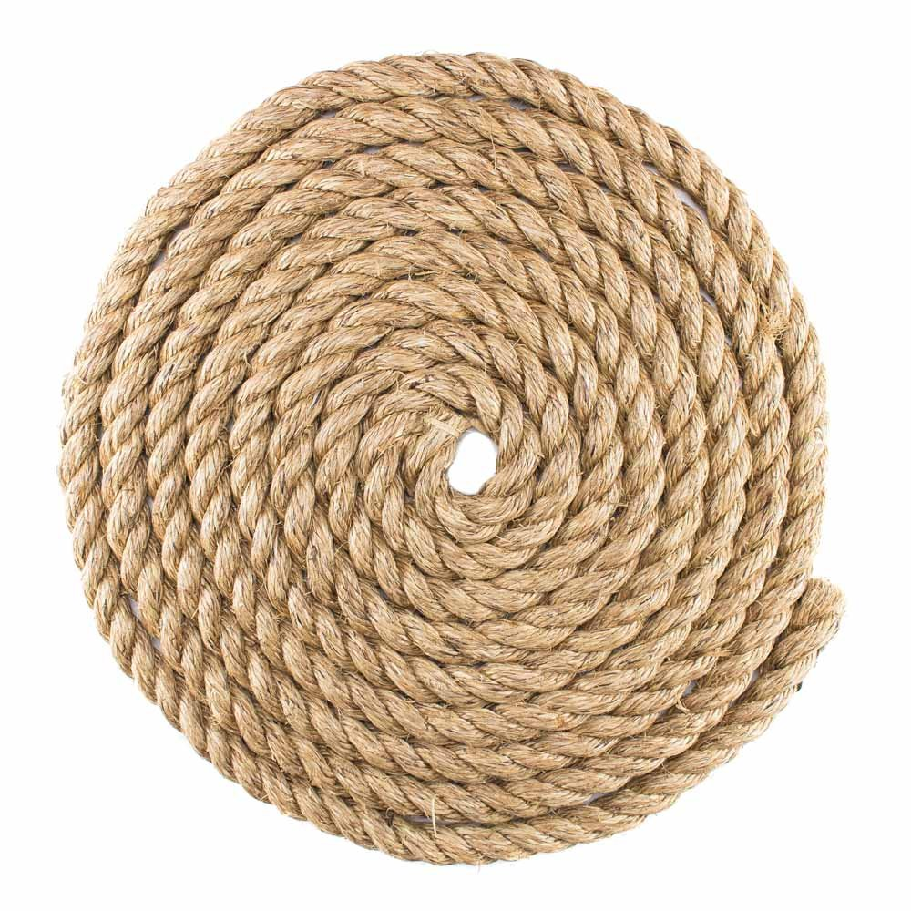 West Coast Paracord Twisted Manila Hemp Rope in 1/4 inch, 5/16 inch, 3/8 inch, 1/2 inch, 5/8 inch, 3/4 inch, 1 inch, and 2 inch Widths & Several Lengths