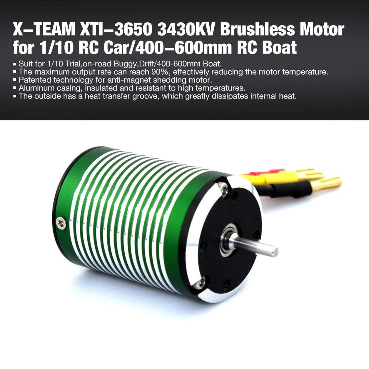 Dailyinshop X-Team XTI-3650 3430KV Motor sin escobillas für 1/10 ...