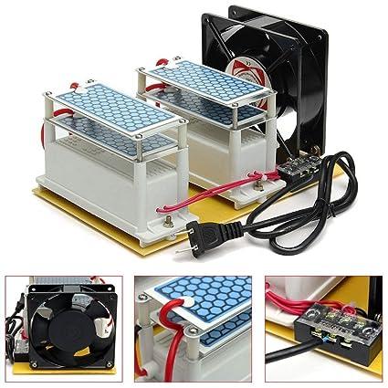 dastrues Generador de Ozono AC 220 V 20 g Ozone Generador Comercial Generador de Ozono purificador