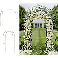 Tytroy Metal Outdoor & Indoor 7'10″ Arch Arbor for Wedding Bridal Party Elegant Decorations & Garden Climbing Plants (Black 1 pc)
