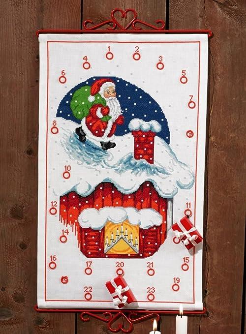 Calendario Dellavvento Punto Croce.Stick Confezione Calendario Dell Avvento Babbo Natale Sul