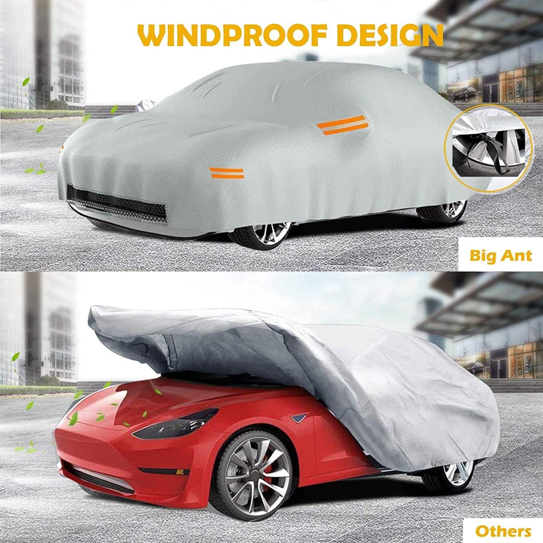 100/% Impermeable Housse de Voiture pour Tesla Model 3 Big Ant B/âche Voiture 6 Couches Couverture Compl/ète de Voiture Anti-Poussi/ère Pluie Neige Parfait pour Tesla Model 3