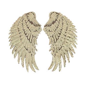 Wwmily 1 Paar Flügel Pailletten Engelsflügel Diy Bestickt
