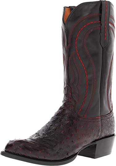 a34593bba63 Lucchese Men's Montana Full Quill Ostrich / Derby Calf Boot