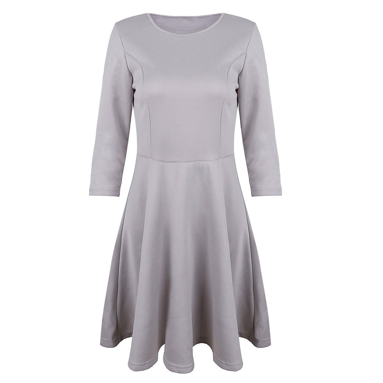 SUNNOW® Elegant Damen Kleider Langarm Herbst Winter Retro 1950er Jahre Business Faltenrock Partykleid Cocktailkleid