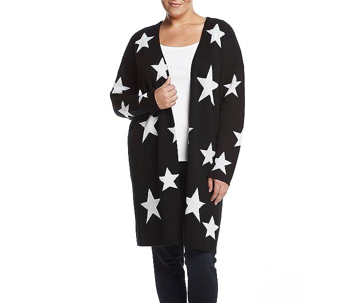 Amazon.com: Relatividad Plus Size Star Patrón chaqueta de ...