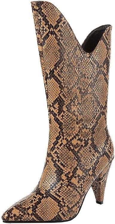 Snakeskin Boots Kitten Heel Wide Calf