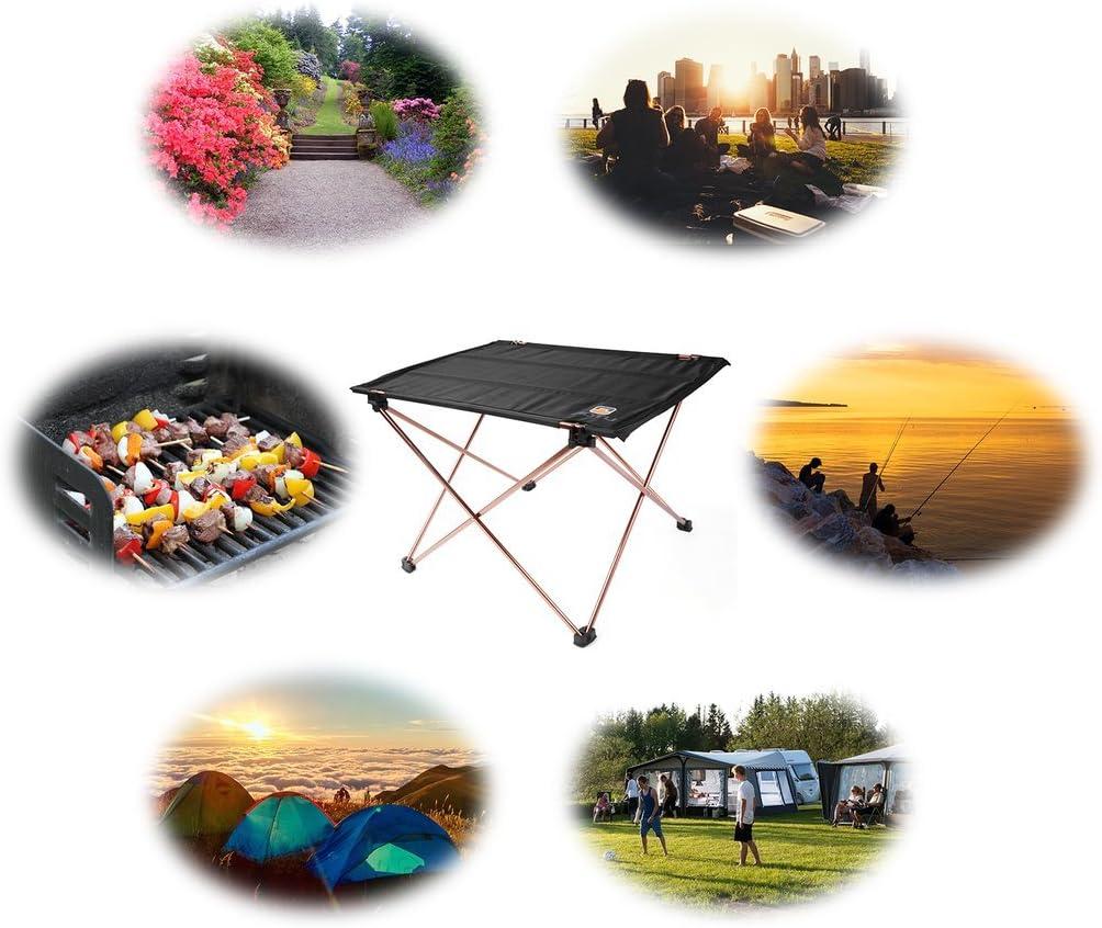 leicht Picknick mit Tragetasche Picknick im Freien Reise f/ür Camping tragbarer Schreibtisch faltbarer Camping-Tisch Strand LESHP Tisch zum Aufrollen Party