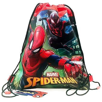 Amazon.com  Disney Marvel Spider-Man 14-inch Sling Bags Drawstring ... 159aff1066e75