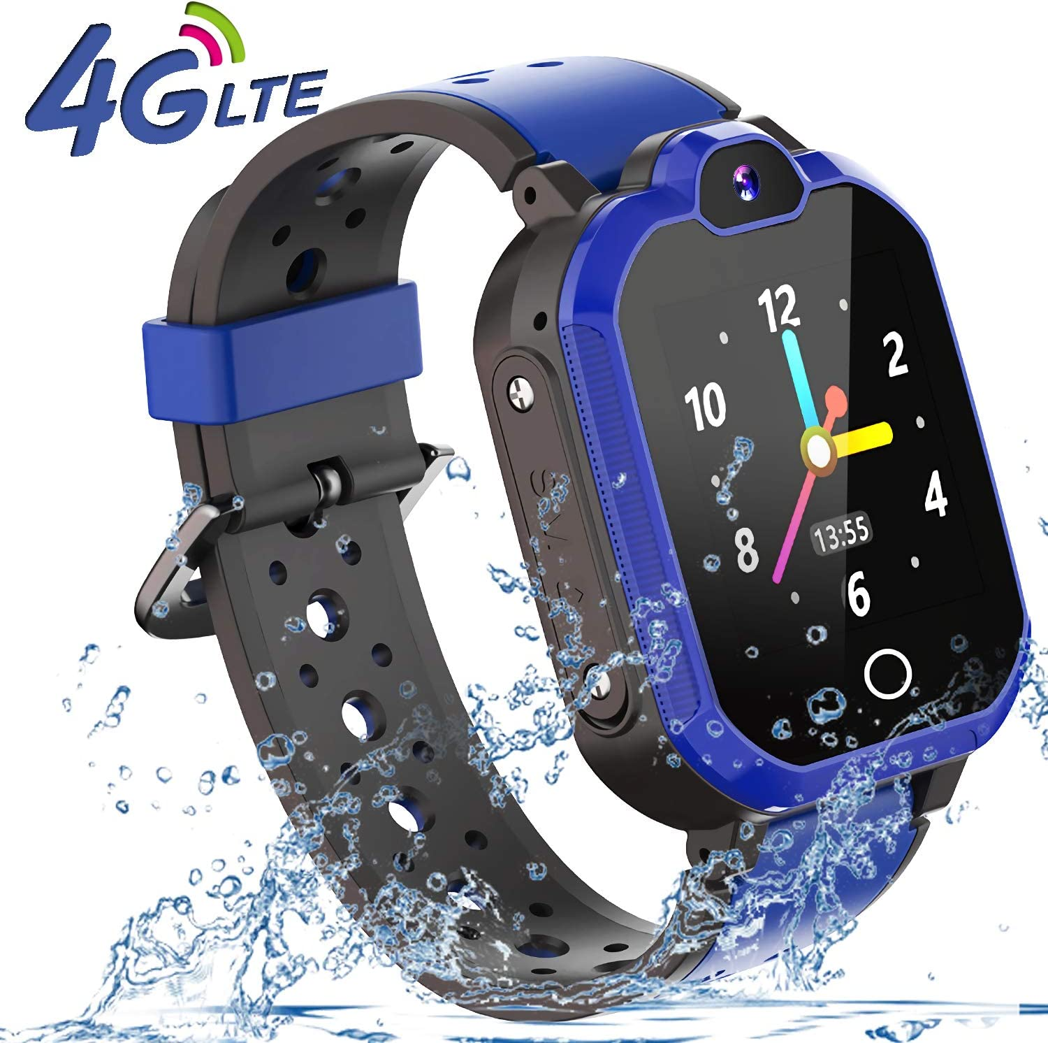 4G Smart Watch for Kids - WiFi GPS Tracker Kids Smartwatch Phone Waterproof Touch Screen Digital Wrist Watch with Call Voice Video Chat Pedometer ...