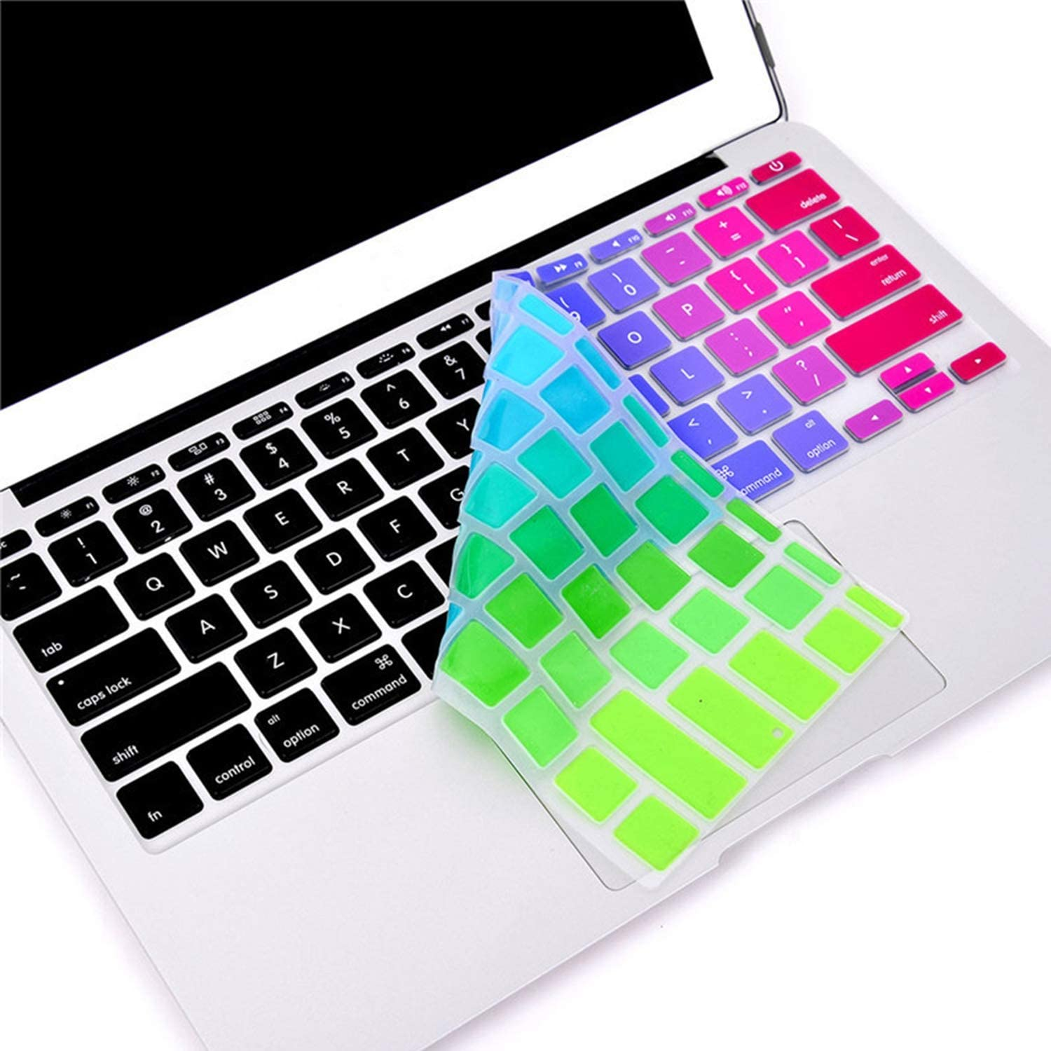 for Pro 13 15 inch Air 13 Retina 13 US Silicone Keypad Skin Protector Flower Decal Rainbow Keyboard Cover