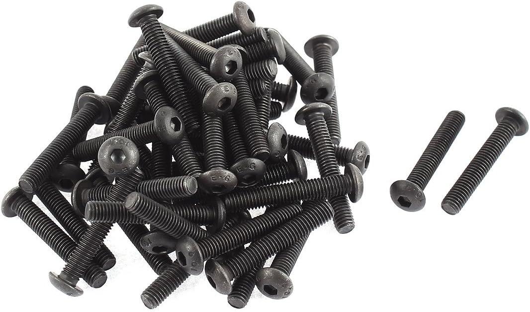 M5x30mm 10.9 Alloy Steel Button Head Hex Socket Cap Screw Bolt 50pcs