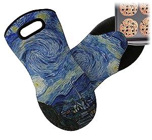 RNK Shops The Starry Night (Van Gogh 1889) Neoprene Oven Mitt
