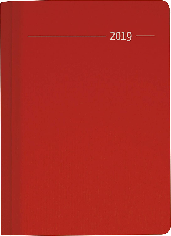 """Agenda Giornaliera Silk Line 2019 """"Rubino"""" 15X21 Cm"""