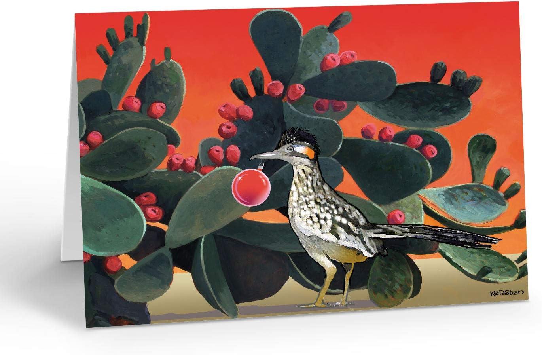 Standard Roadrunner Cactus Season Greetings 18 Boxed Western Cards and Envelopes