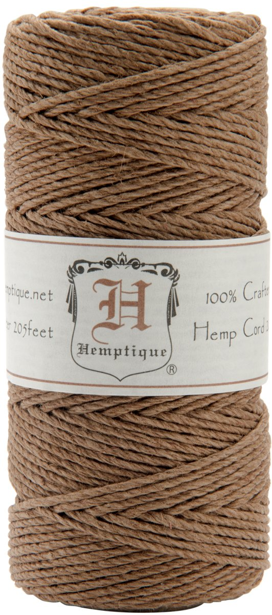 Hemptique HS20-BLU Hemp 20-Pound Cord Spool, Blue, 205-Feet