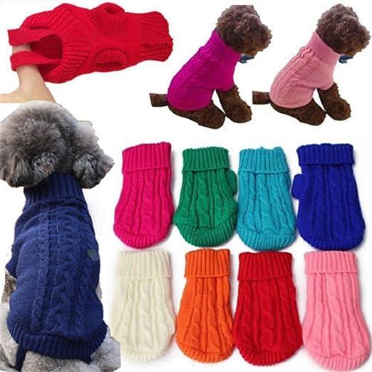 Kingnew Mascotas Perro Gato Jersey Invierno Jumper Ropa en Todos los Salón para Pequeñas Medianas y Grandes Perro (Rosa, L): Amazon.es: Productos para mascotas
