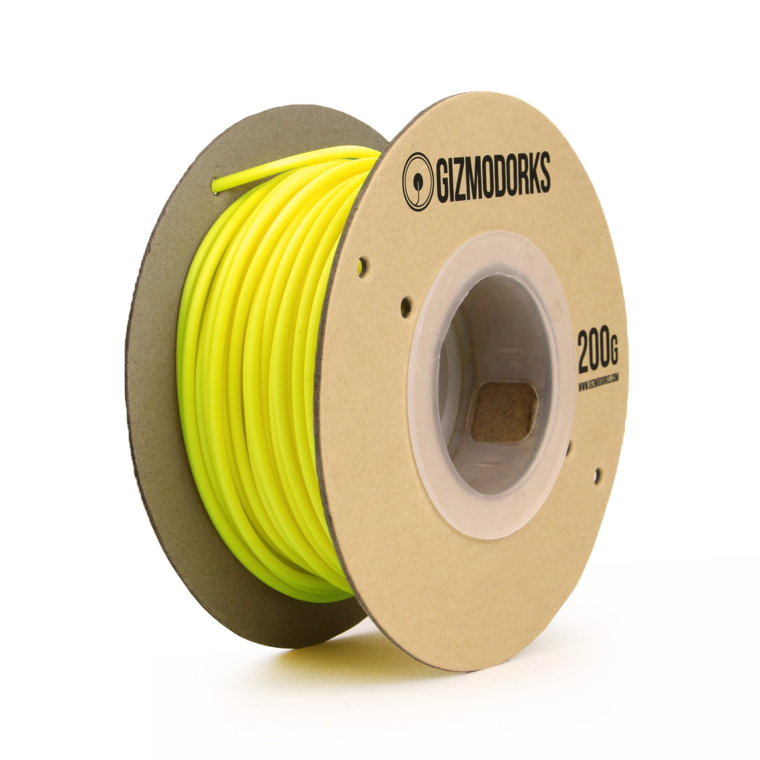 Black Light Reactive Fluorescent Yellow Gizmo Dorks PLA Filament 1.75mm 200g for 3D Printing