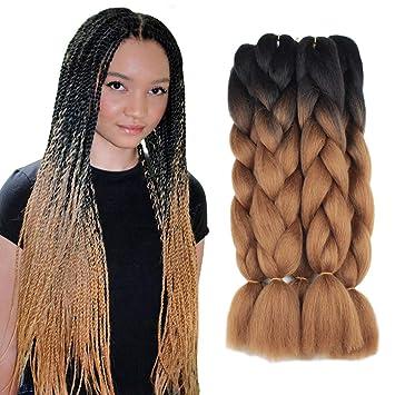 Amazon Com 5 Pieces 2 Tone Ombre Braiding Hair Crochet Braids