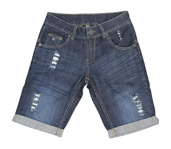 7-13Years Ozmoint Kids Boys Denim Turn Shorts with rips and Distressed Look