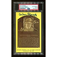 $102 » Willie Stargell Signed HOF Yellow Plaque Postcard Autograph Pirates PSA/DNA *534 - MLB Cut Signatures