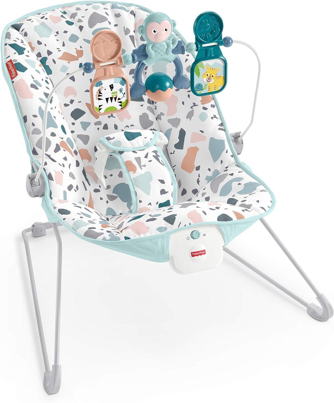 Fisher-Price columpio hora de saltar con vibraciones y movimientos naturales, para bebé recién nacido (Mattel GPH13): Amazon.es: Juguetes y juegos